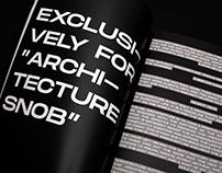 Architecture Snob - issue #1 layout magazine