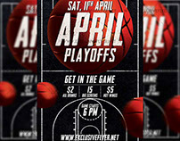 April Playoffs - Premium A5 Flyer Template