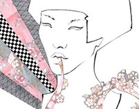 JAPAN fashion illustration series