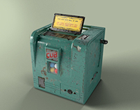 Antique Cub Trade Stimulator Gumball Slot Machine