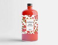 Cold pressed juice — package design