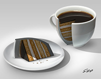 Coffee Cake Photo Manipulation