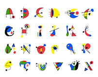 Miro Typeface - school project 2012