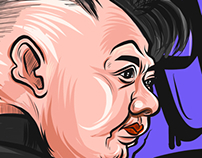 Kim Jong Un caricature drawing