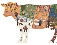 Иллюстрация корова Illustration of a cow