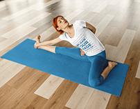 Girl Doing a Yoga Pose While Wearing Custom Sportswear