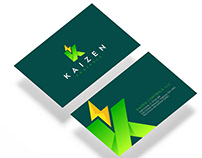kaizen Controls Logo and Business Card Design.