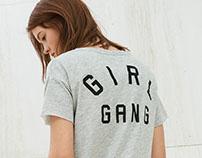 """Girl Gang"" t-shirt for Bershka_SS16"