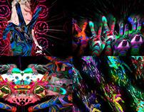 Colored Fingers - VJ Loop Pack (9in1)