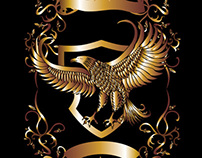 gold shield vector art