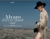 ALVARO DANS LE DESERT for Pref Magazine