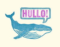 Letterpressed Whale Cards