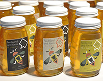Honey Jar Label