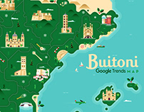Buitoni · Google trends map