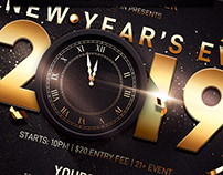 New Years Eve Flyer Invitation