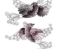 "Illustration ""Love birds"""