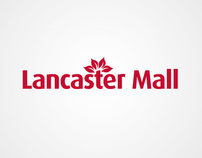 Lancaster Mall identity redesign, ads and website.