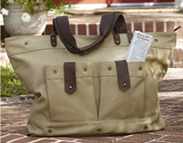 Waxed Canvas Weekender and Tote