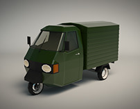 Low Poly Three Wheeled Van 02