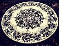 Islamic Art Cake Plate.