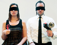 Blindfolded Holiday Gift Wrapping