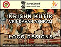 LOGO DESIGNS FOR KRISHN KUTIR - VRINDAVAN ASHRAM