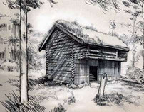 Sketch Of A Hut