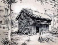 Sketch Of A Hut