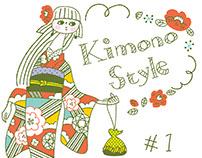 Kimono style drawing