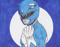 Mighty Morphin Power Rangers: Original Sketch Cover