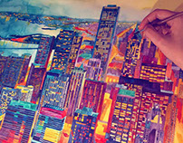 watercolors of modern cities vol1