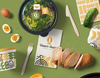 OMLET-BAGET cafe . Branding