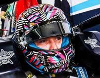 Daniel Ticktum F2 helmet design - 2020