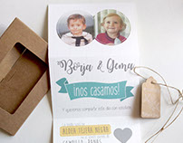 Wedding Invitation. Borja&Gema