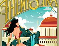 Wonder Woman Themyscira Travel poster