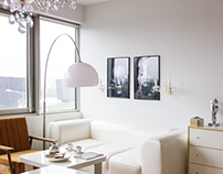 White apartment in Vilnius