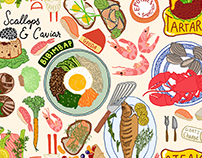 Food Illustrations for Entree