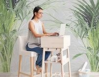Mural Graphic Design 'Palm' for Onwall.eu