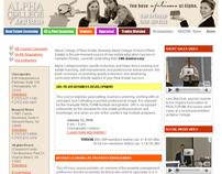 Alpha College of Real Estate Website Redesign