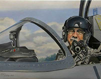 Commission Pilot in Cockpit L-39