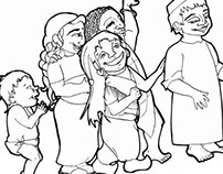Arsa: ilustraciones para colorear un cuento.