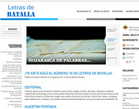 Website Letras de Batalla