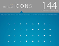144 minimal icons package 12 A.M