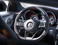 Benz c63s coupe -CGI Photography