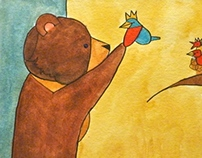 "Illustrations for ""The Willow Wren and the Bear"""