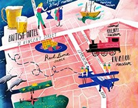 Jetstar magazine - Map of Adelaide
