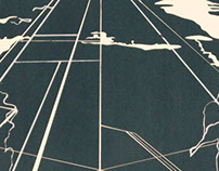 Seismic Lines Screenprint