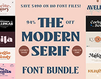 THE MODERN SERIF FONT BUNDLE - 94% OFF!