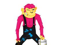 Pink ape