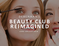 Debenhams Beauty Club Presentation Designs